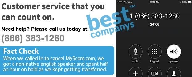 MyScore Customer Service Fail