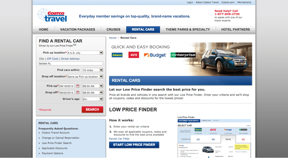 For the rental cars, you can go through the Costco Travel website to book your car and they will fill in the appropriate discount code for your membership, though you may still have to put in the information to receive the additional coupon deals (these have some little code as well).